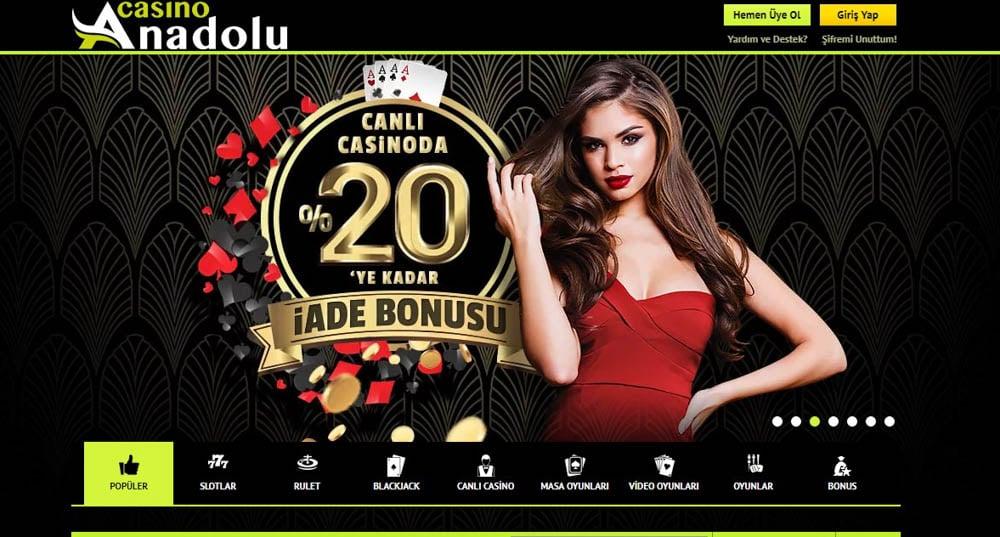 Anadolu Casino Güncel Giriş ve Bonus 2021